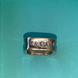 Tiffany &Co. Silver 1837 Ring